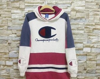 Vintage 90's Champion Hoodie Champion Products USA Running Man Sweatshirt Sweater Pullover Champion g7aNdWAxK