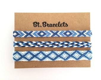 Set of friendship straps bracelets Blue/White 5.00