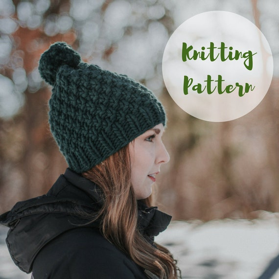 Knitting pattern the linden hat super chunky knit hat knitting pattern the linden hat super chunky knit hat hat knitting pattern knitting pattern for beginners toque pattern chunky b dt1010fo