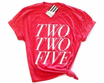 Hey, Penelope TWO TWO FIVE Red Stick T-Shirt in Red