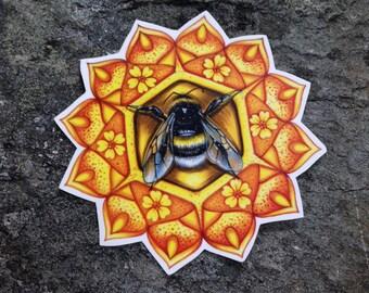Bumble Bee - Bee - Bee Temporary Tattoo - Bee Tattoo - Mandala Tattoo - Bee Mandala Temporary Tattoo - Bee Accessory