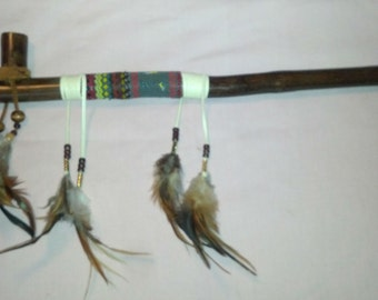 Working Pipe Peyote Stick - Handcrafted Peyote Stick - MtManCreations