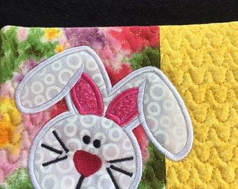 Easter Bunny Mug Rug, Coaster, Easter