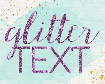 Glitter add on// Add on// Just add glitter// Glitter text