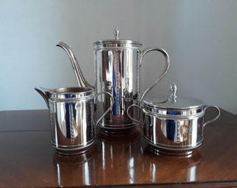 1910 Art Nouveau WMF coffee core 3-piece, chrome-plated