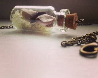 Glow in the Dark- Message in a Bottle Necklace