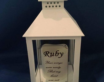 memorial wedding lantern,laser engraved wedding memory lantern,laser engraved wedding memorial lantern, remembering a loved one at a wedding