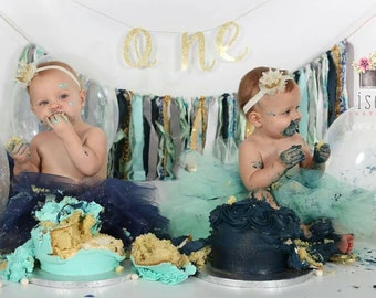 Cake Smash Tutu - Choose your colors - 1st Birthday Tutu - Sewn Tulle Skirt - Made to order - For portraits, parties, gift