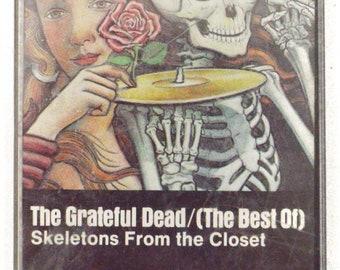 Vintage 80 Grateful Dead (The Best Of) Skeletons From the Closet Folk Rock Compilation Cassette Tape