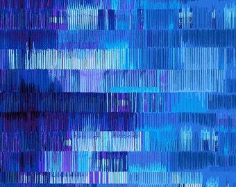 Lines Blue Culture Shock Studio E Fabric 1 yard
