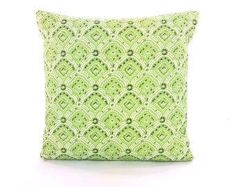 OUTDOOR Throw Pillow COVER Green Gray Decorative Throw Cushion Pillow for Couch Sofa All SIZES Lime Green Cottage Patio Outdoor Pillow Porch