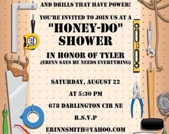 Couples Shower Invitation, Bridal Shower, Engagement Party Invite, Honey- Do Shower, Bridal Shower Party, Printable Invitations, Printable