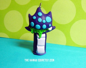 Cute Monster charm Baby Baron Nashor- Polymer clay hand sculpted hand painted scary cute, geeky charm, gamer