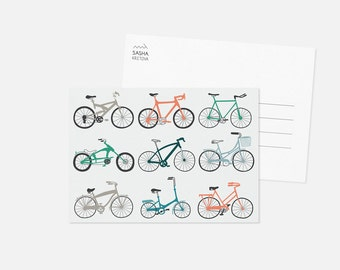 BICYCLES postcard