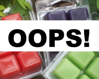 LAST ONE Discount wax melts, OOPS sale, overstock and surplus, clearance priced wax melts