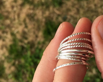 Sterling Silver Stacking Ring   Sterling Silver Stacker Rings   Silver Rings   Stacking Rings   Simple Rings   Bridesmaid Jewlery