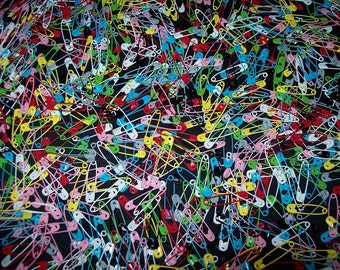 """28mm (Approx 1"""") x 60 Pk.  Medium Multicolor Safety Pins or  CHOOSE COLOR.  ***New Stock***  Price tags, craft, clothing etc."""