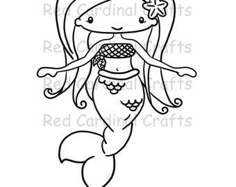 Digital Stamp - Mermaid