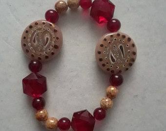 Red paisley bracelet
