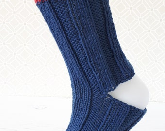 Yoga Socks in a Bag! - Navy with space dye edges