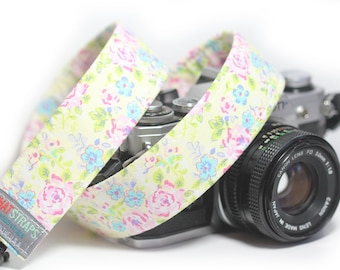 Floral Camera Strap, Pink Flower Camera Strap,  Pink a Boo