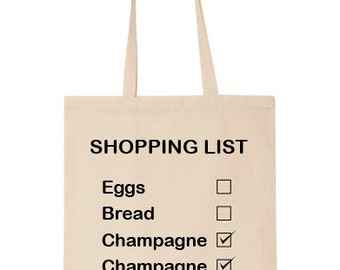 Drôle Shopping liste Tote Bag (coton) (T666)