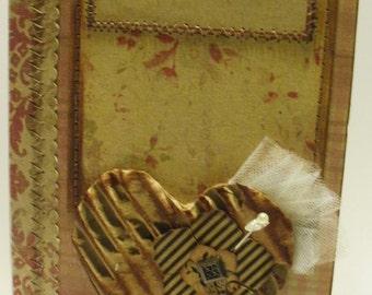 Our Life vintage scrapbook paperbag journal album