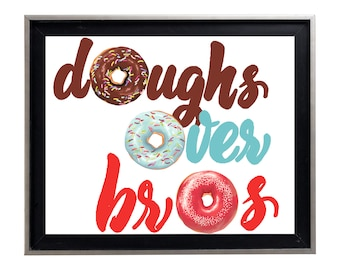 Watercolor Doughs Over Bros DONUTS Art Print Matte Print Poster Splatter