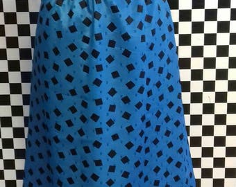 Electric blue and black wiggle skirt - M/L