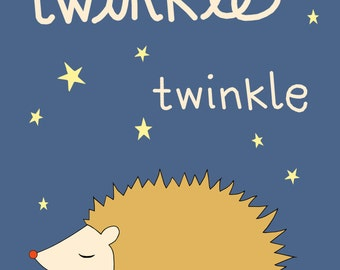 Twinkle Print, Fine Art Print by Kate Durkin, Nursery Art