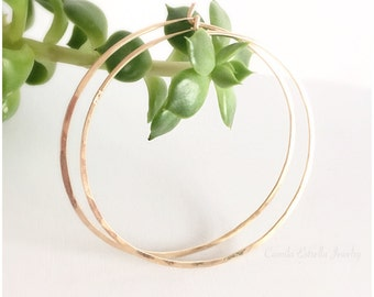 Large Hoop Earrings, 14K Gold Hoop Earrings, Gold Hoop Earrings, Gold Earrings, Rose Gold Earrings, Small Hoop Earrings