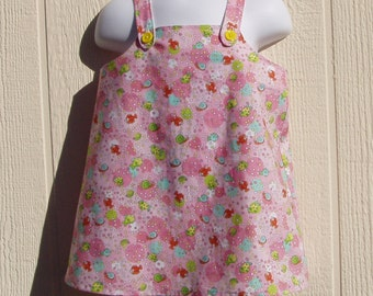 Sea Life on  Pink Sundress Size 12 Months