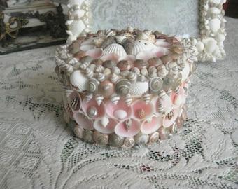 Artisan Handmade Altered Trinket Box - Sea Shell Art - OOAK - Medium Size