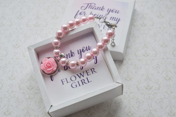 Flower girl gift ideas Flower girl bracelet personalized gift