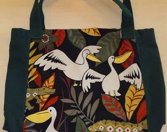 """Reserved Listing,Canvas Lined Tote with Pockets,15""""H x 13.5""""W x 5""""D,Machine Washable,Durable,You Pay Shipping."""
