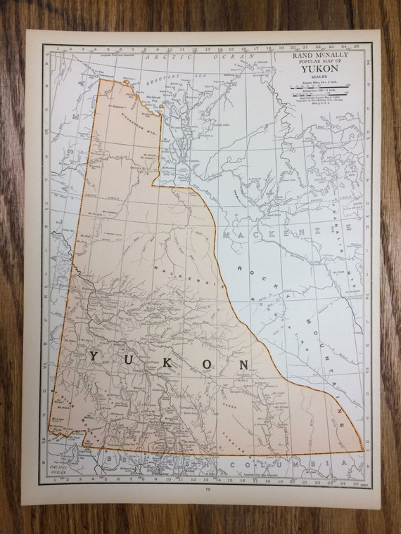 Yukon or mackenzie large map 1925 the columbian atlas like this item gumiabroncs Image collections
