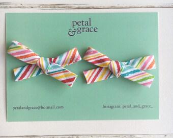 Rainbow pigtail set