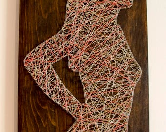 Lady Silhouette String art Wall decor, birthday gift, unique art