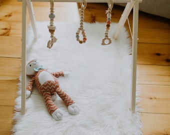 Wooden Baby Gym ↠ Ships Fast ↠ Foldable ↠ Eco-friendly Organic Toys ↠ Scandinavian Minimalism ↠ Hanging Toys NOT included