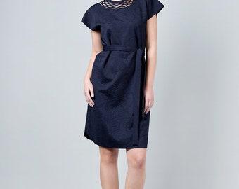 Navy Dresses for Women, Blue Office Dress, Blue Dress, Modest Dress, Custom Made Clothing, Women Everyday Dress, Custom Dress, Office Wear