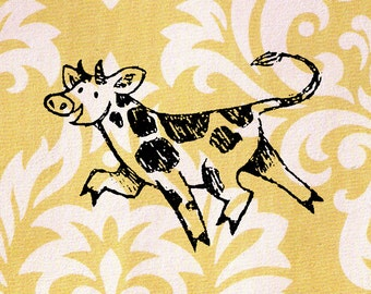 Cow Stamp - Wood Mounted Rubber Stamp