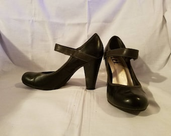 Black Mary Jane High Heels/Mary Jane Shoes/Black High Heels/Black Mary Jane Heels/Mary Janes/High Heels/Black Heels/Heels