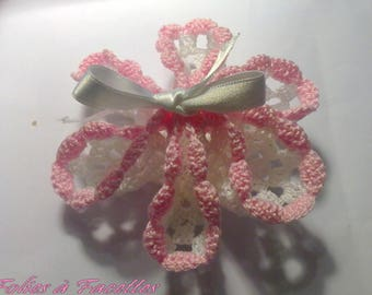 2 purses crochet pink and White Star
