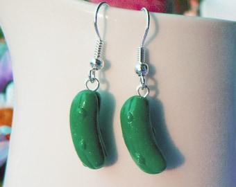 Handmade Cucumber Pickle Earrings