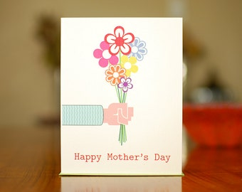 Bouquet for Mom - Happy Mother's Day Card on 100% Recycled Paper