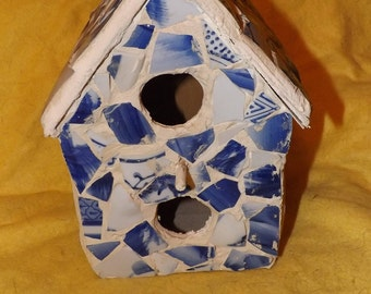 Handmade Mosaic Bird house