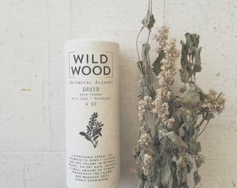 Wildwood DRUID Dry Shampoo, Hair Powder, Hair Care, Hair Cleanser w/ Sage and Horsetail