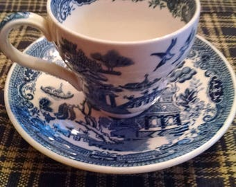wedgewood blue willow 3 oz. expresso cup and saucer