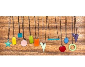 Torch Fired Enamel Necklaces