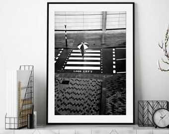 Black and White Print Photography, London Photography, Street Photography, Fine art Photography, Photography Print, Stripes,  Zebra Crossing
